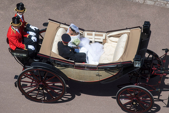 The newlyweds' carriage procession around Windsor after the wedding ceremony was straight out of a fairy tale.