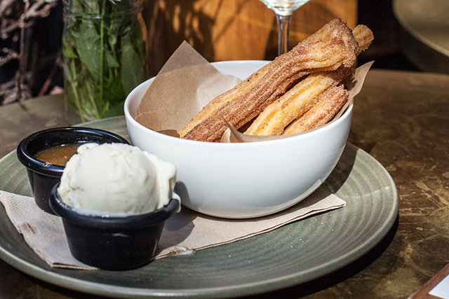 Cinnamon churros at The Buena, Mosman: If you've got a sweet tooth ignore the entrée and mains menu and go directly for dessert at The Buena. It involves cinnamon churros with a side of salted caramel sauce and a scoop of vanilla bean ice cream. Feeling warmer just thinking about it. 76 Middle Head Rd, Mosman
