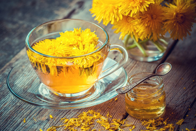 Sipping dandelion and chicory herbal tea instead of coffee, or adding dandelion greens to your salad