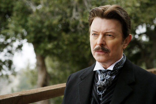 Bowie (fittingly) plays magician Nikola Tesla opposite Hugh Jackman in Christopher Nolan's 20016 sleight-of-hand thriller 'The Prestige'.