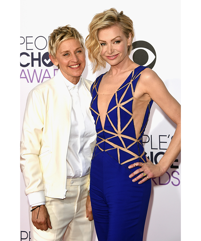 Ellen DeGeneres, who famously came out on TV and wife Portia de Rossi are married.