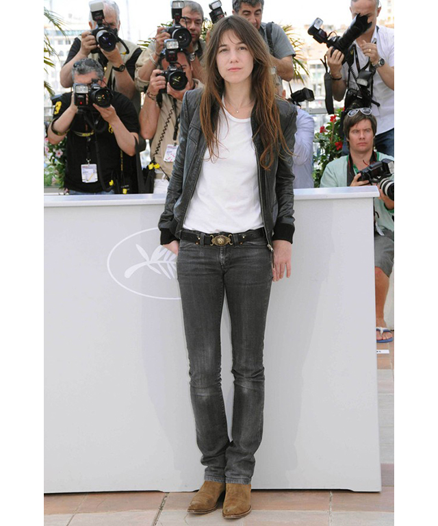 Charlotte Gainsbourg: white T-shirt
