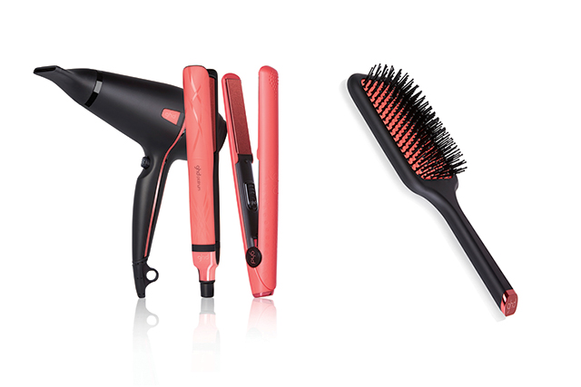ghd is bringing out a stunning pink blush collection which includes a ghd platinum styler $325, ghd V styler $280, ghd air hairdryer $200, ghd paddle brush $34. For every ghd pink blush product sold ghd will make a donation to the NBCF. Available from: