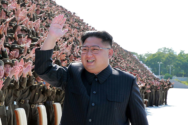 Kim Jong-un: North Korean leader on a nuclear war path with the US and therefore the entire world (image: Getty)