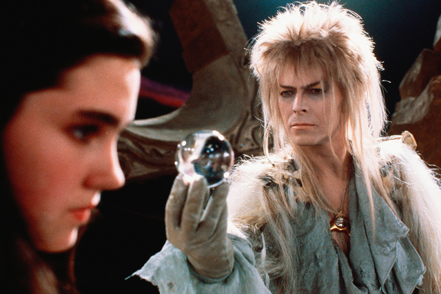An unforgettable role as 'Magic Dance' Goblin King Jareth in the 1986 classic 'Labryrinth' (next to a baby faced Jennifer Connelly).