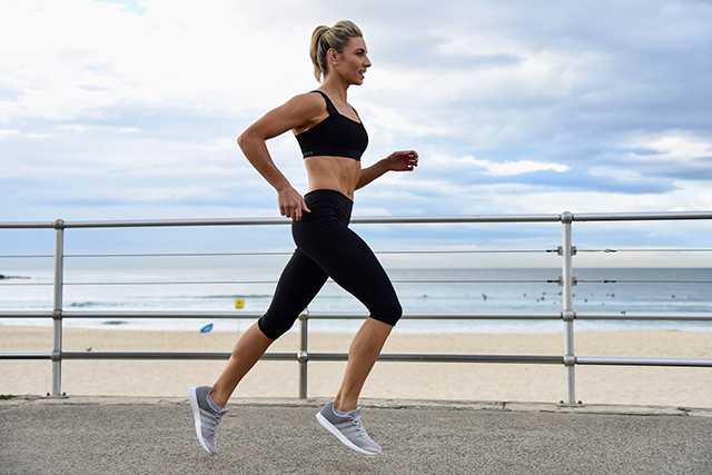 "Lauren Hannford's #1 tip: ""I could ramble on forever as there are so many great ways to stay in shape but I like to keep it short and sweet. Move consistently, be conscious of your portion sizes and surround yourself with positive, active people and always drink lots of water."""