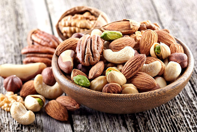 Nuts: Nuts are a great source of magnesium, an essential mineral that's utilised for a number of important biochemical functions throughout our body. Magnesium helps our muscles and our nervous system to relax, which is essential for great sleep.