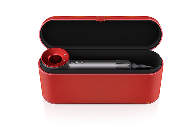 Blow-dry the frizzies away for a smooth polished texture. Try: DYSON Red Supersonic hair-dryer (with travel case)