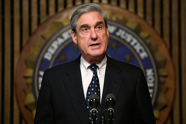 "Robert Mueller: special US counsel investigating ""potential involvement of the Trump campaign in Russian efforts to influence the 2016 presidential campaign"" per TIME (image: Getty)"