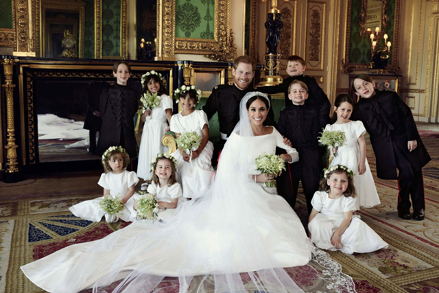 The overjoyed look on Prince George's face in the official wedding portraits taken by Alexi Lubomirski is priceless.
