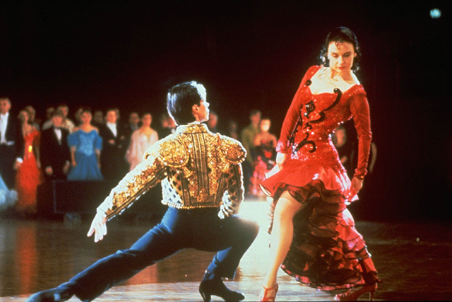 Strictly Ballroom (1992). Another Baz Luhrmann hit, set in the sequinned and feathered Prima donna world of competitive ballroom dancing.