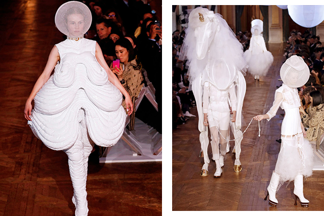 Thom Browne's saggy boob-chic and unicorn FTW