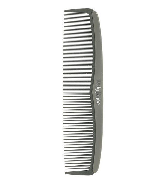 Part your hair in the centre and leave small tendrils of hair at the front on each side. You'll need a small, simple comb for precision. Try: Lady Jayne comb