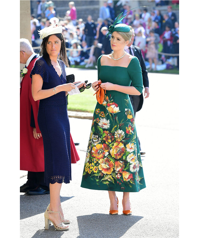 The best dressed guest was Princess Diana's niece, Lady Kitty Spencer, wearing a floral green Dolce & Gabbana dress and matching Philip Treacy fascinator.