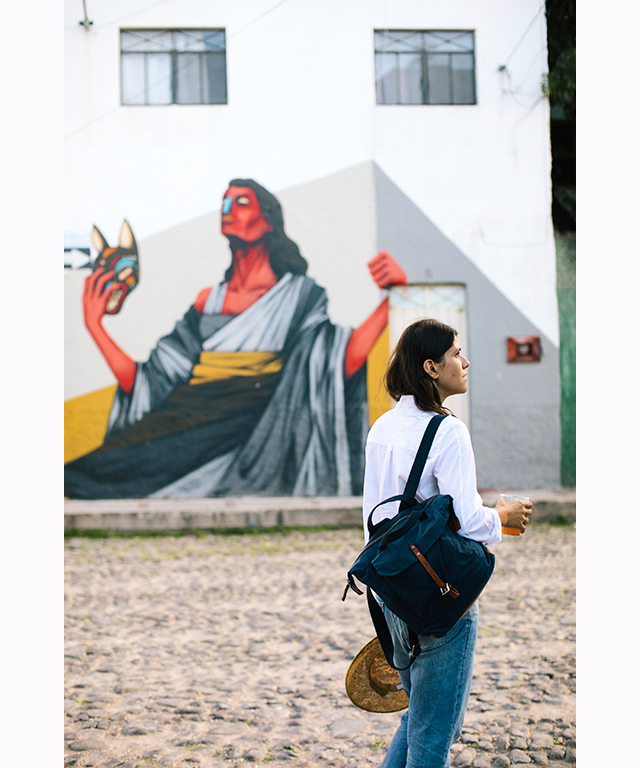Guadalupe - an area walking distance from the centre of town known for its colourful street murals.