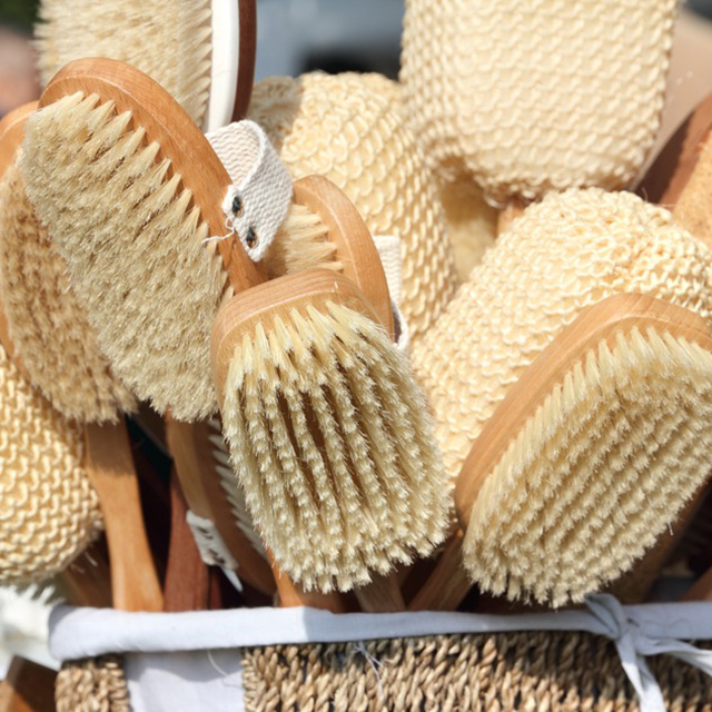 #9 Dry skin brush. Before entering the shower, brush your whole body for five minutes every day. That will help your body fight fluid retention.