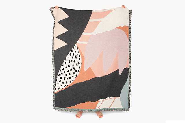 Australian-born, LA-based designer Marc Hendrick's just-launched creative project celebrates tasteful, original prints. Working with artists and illustrators around the world, Slowdown Studio's 100% cotton throws are as chic in the home as they are being lazed on in the grass.