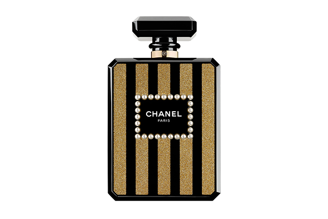 Chanel Black and golden resin minaudiere, $13,970