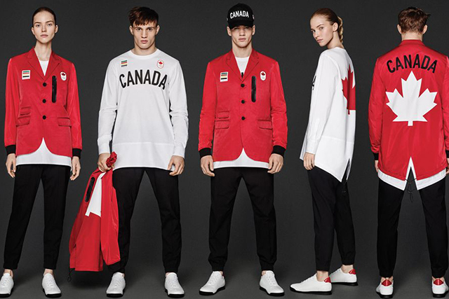 Dsquared2 x Canadian Olympic Team: The cool kids behind Dsquared2 designed the maple leaf team uniforms this year and the gear showcases serious activewear style.