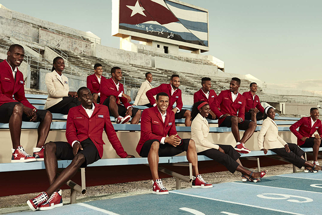 Christian Louboutin x Cuban Olympic Team: The king of fancy footwear has designed the Cuban Olympic team uniform for the upcoming Rio Olympics. Makes a compelling case to take up a sport.