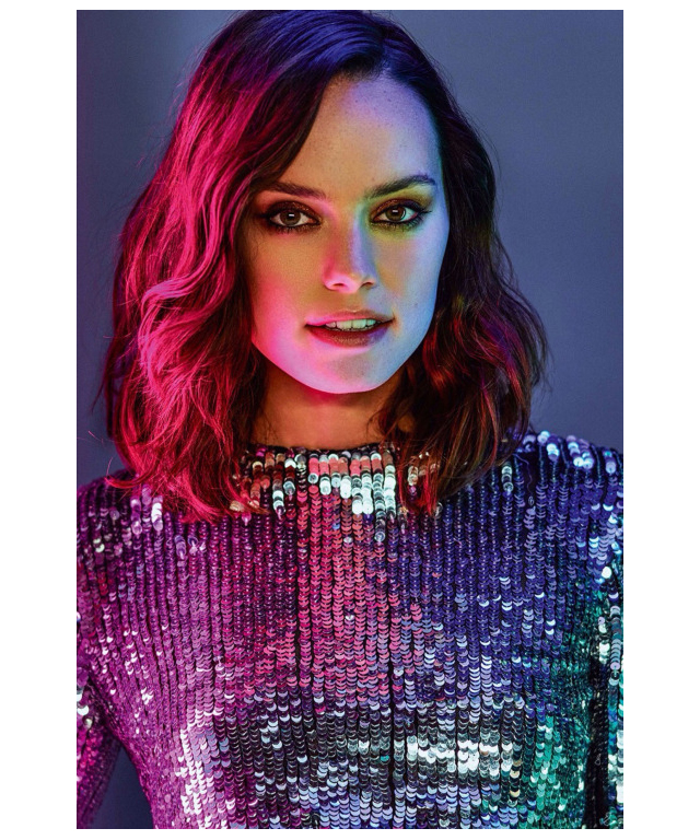 Daisy Ridley, 24, enjoyed a mammoth end to 2015 as she starred in the acclaimed 'Star Wars: The Force Awakens'.