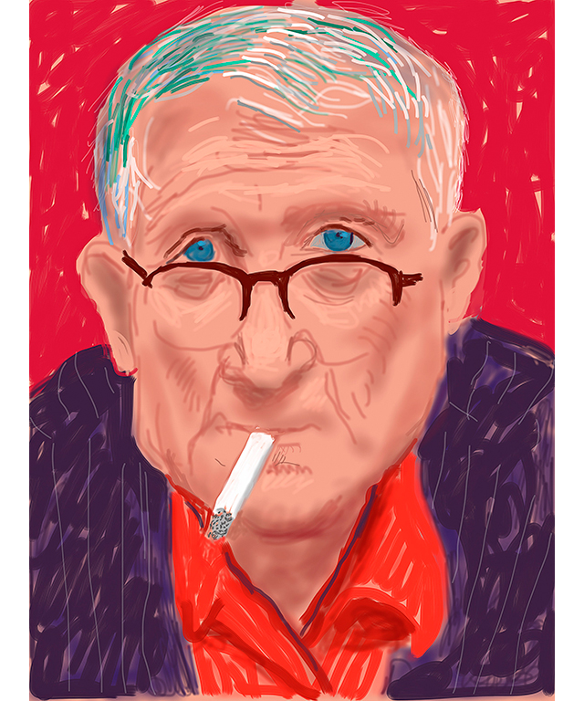David Hockney English 1937– 'Self Portrait, 21 March 2012 (1223)' iPad drawing Collection of the artist © David Hockney