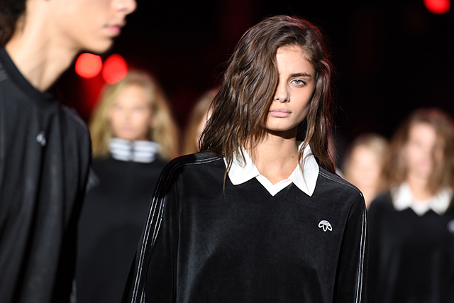 Taylor Hill also walked in the Wang show