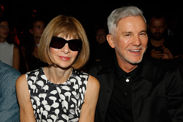 While Anna Wintour and Baz Luhrman sat front row...