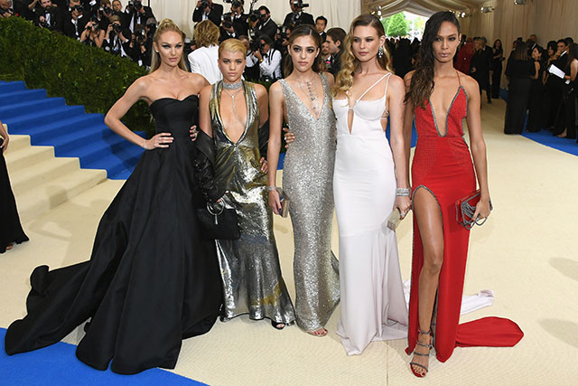 Candice Swanepoel, Sofia Ritchie, Sistine Stallone, Behati Prinsloo and Joan Smalls