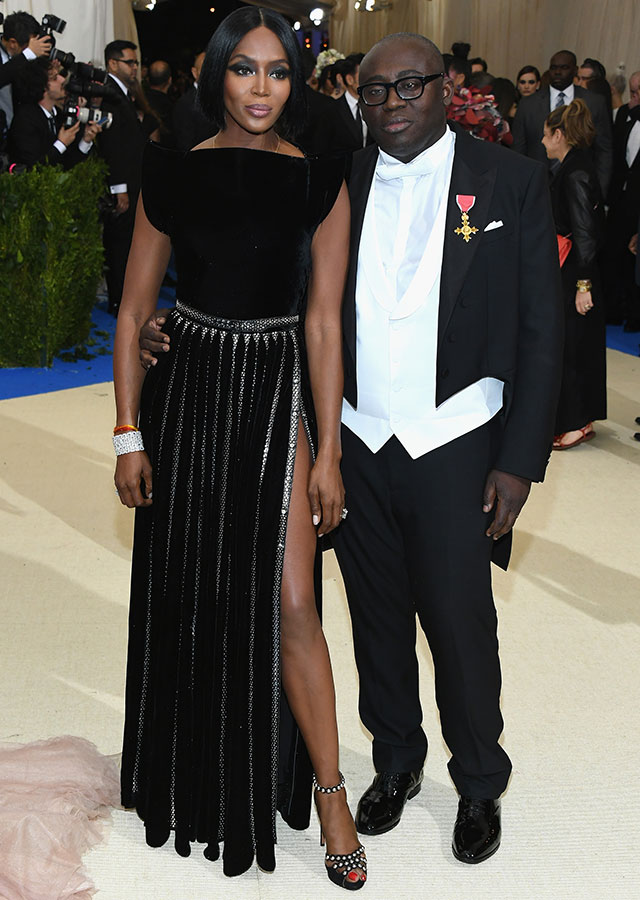 Naomi Campbell and Edward Enniful