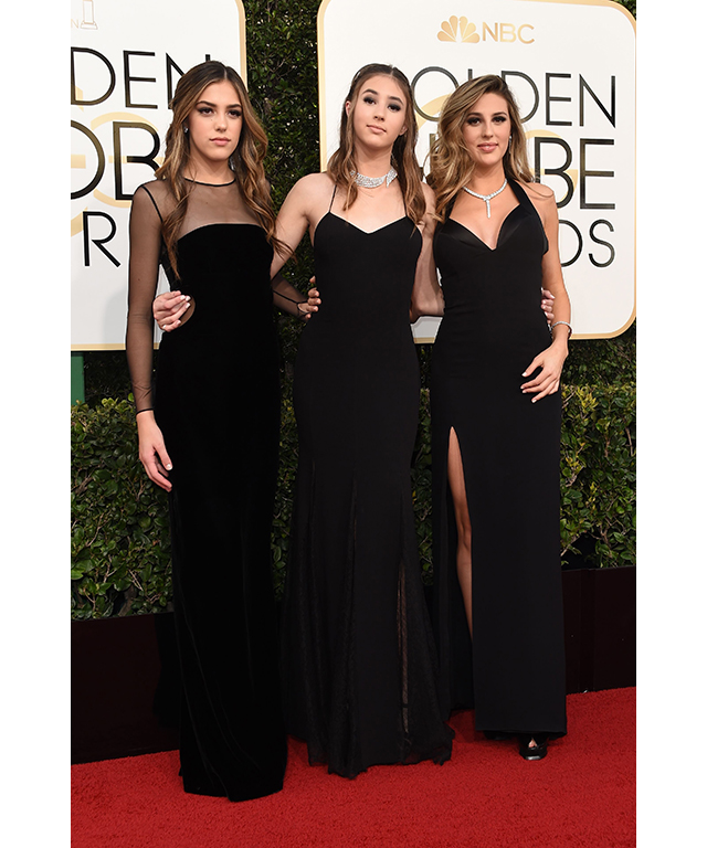 Sistine Stallone, Scarlet Stallone and Sophia Stallone