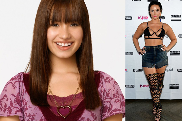 DEMI LOVATO; Disney productions: As The Bell Rings, Camp Rock, Princess Protection Program, Sonny With A Chance. Turning point: Speaking out against body-shamers following a brief stint in rehab due to bulimia.