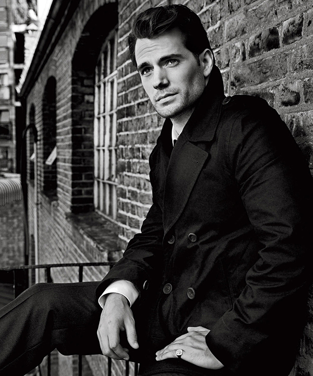 Henry Cavill, 33, hails from Jersey and posseses the dashing good needed to play Superman in 'Man of Steel', 'Batman v Superman: Dawn of Justice' and a spy in 'The Man from U.N.C.L.E.'.