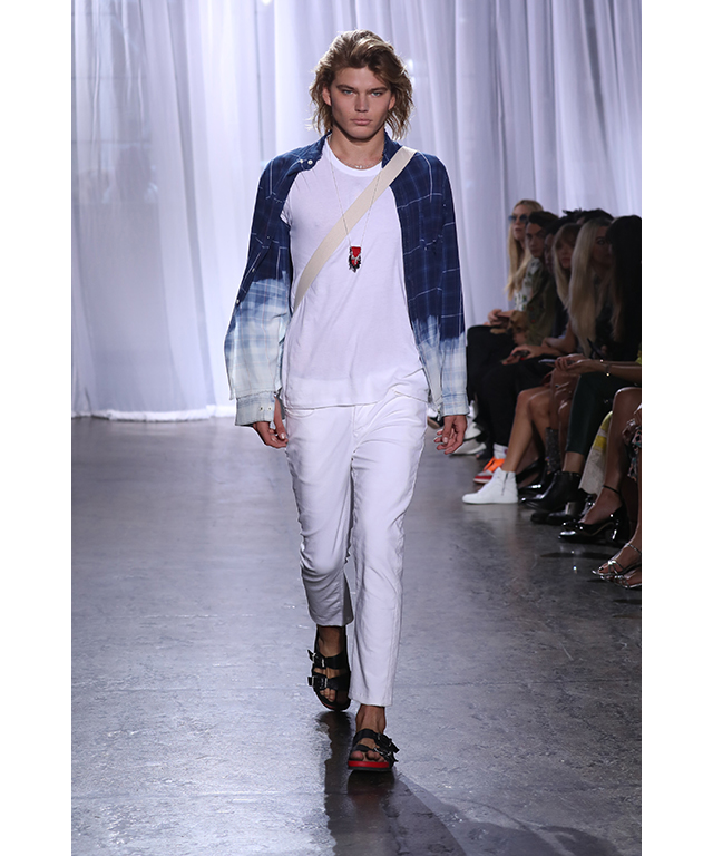 Jordan Barrett: He's 2016 male model of the year and has been seen at just about every NYFW after party. The young-Leo doppelgänger walked for Zadig & Voltaire in New York.