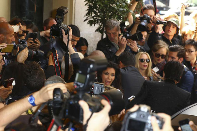 Kim Kardashian West was victim no. 2 during Paris fashion week in 2014, where he was captured grabbing the reality-TV star's legs as she was leaving the Balmain fashion show. The man-handling nearly led Kim to fall to the ground, but thankfully a number of security guards intervened.