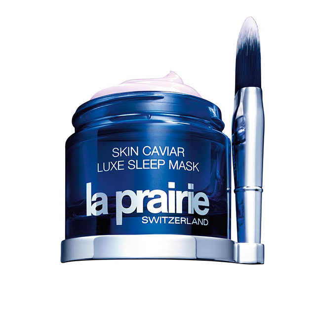 La Prairie Skin Caviar Luxe Sleep Mask, $410. Infused with La Prairie's signature caviar extracts, this ultra-luxe sleep mask literally melts into the skin and will progressively boost skin's firmness and elasticity over time.