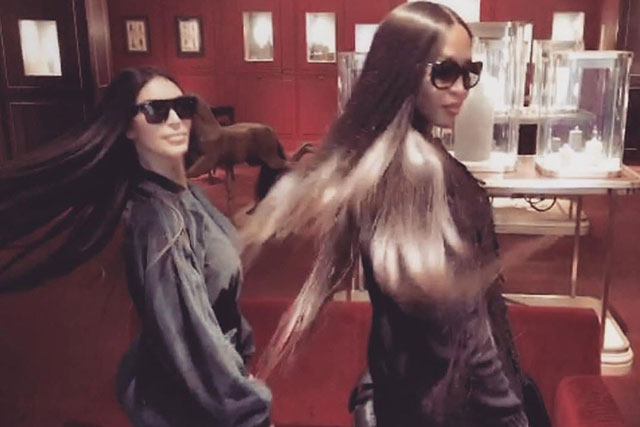 Kim Kardashian and Naomi Campbell