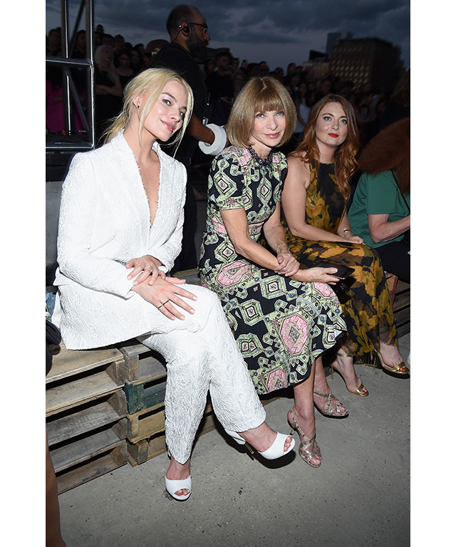 With Anna Wintour at the Givenchy S/S '16 fashion show at New York Fashion Week, September 11, 2015