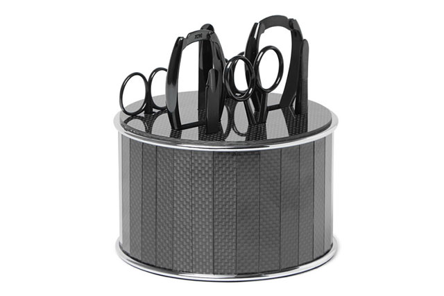 Bamford grooming departments stainless Steel and Carbon Fibre Manicure Set, Approx. AUD $1,784.88 netaporter.com/au