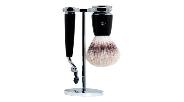 One Thousand & Ninety Two Mach3 Shave Set: Black, $199 mensbiz.com.au