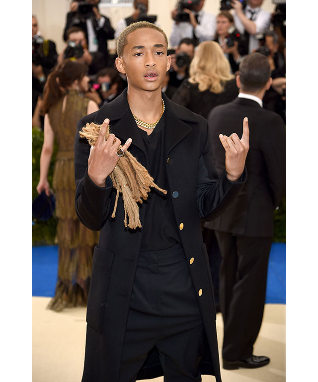 Jaden Smith decided that cut-off dreadlocks made the best accessory.