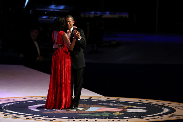 At the Inaugural Ball at the Walter E. Washington Convention Centre on January 21, 2013