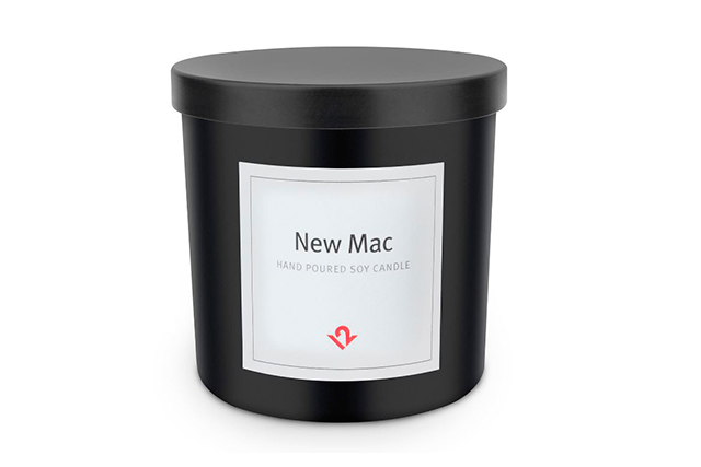 For the geek. If you have a friend or colleague who worships the cult of Mac – as in the I-everything as opposed to the make-up – the Mac Candle, approx. $30, twelvesouth.com, smells like a fresh out of the box Ipad or Macbook Pro. Which apparently translates to mint, peach, basil, mandarin and sage. It is made from 100 per cent soy wax and has a burn time of 45-55 hours.