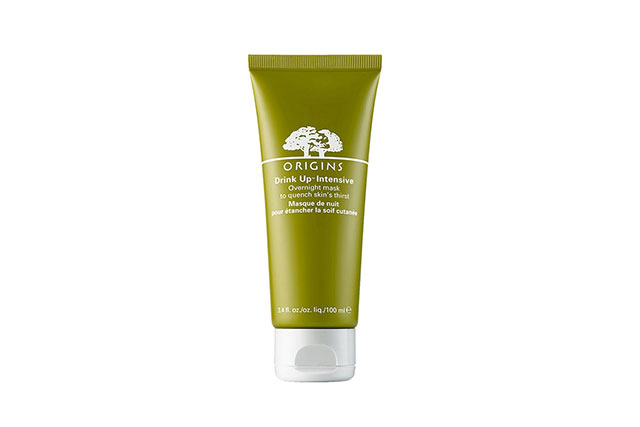Origins Drink Up Intensive Overnight Mask, $24. Just like the name implies, your skin is designed to drink this up.  This hydrating mask is designed for the driest of complexions that crave a heft hit of moisture. It's also imbued with Japanese seaweed to prevent future dehydration happening.