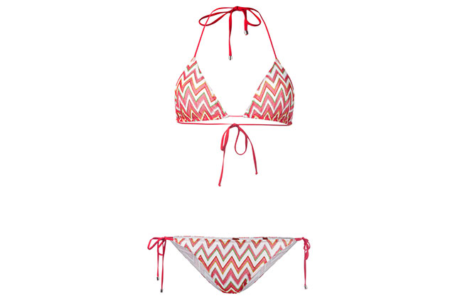 Missoni chevron pattern bikini $439, farfetch.com