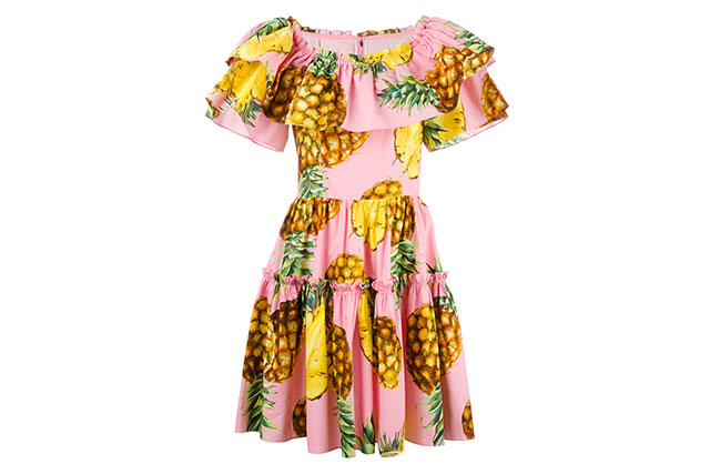 Dolce & Gabbana pineapple print dress, $2600 farfetch.com