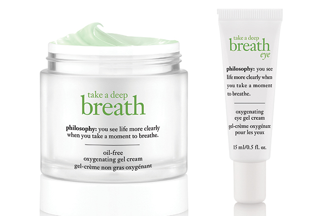 Philosophy Take a Deep Breath Oil-Free Oxygenating Gel Cream, $50: Containing a patented antioxidant and anti-pollutant complex, this new range from Philosophy increases skin cell energy for optimal cell function. There's also a matching eye gel.