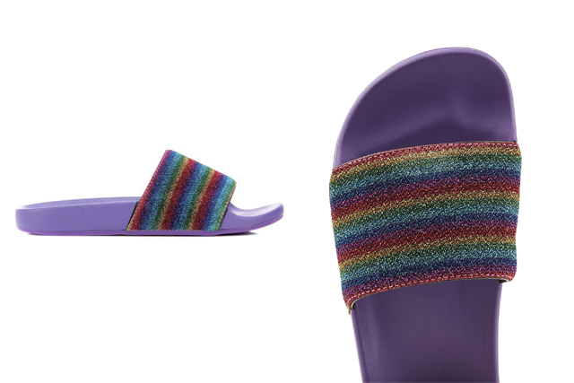 Marc Jacobs rainbow slides, approx. $193 at Stylebop.com