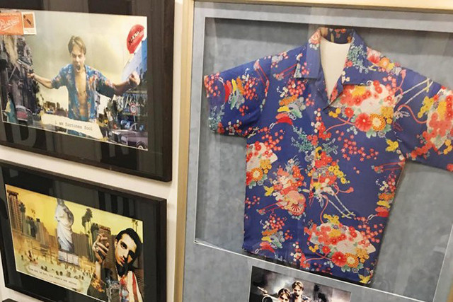 The famous Hawaiian shirt Leo wore is now on display at Opening Ceremony in NYC.