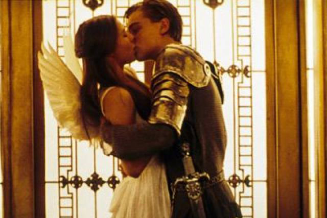 In the iconic scene of Romeo & Juliet's first kiss, the camera spins around the couple in a tiny elevator. This was actually filmed by constructing the elevator in sections that were manually lifted and shifted into place as the camera whirled around the two actors.